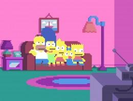 Los Simpsons en Pixel Art, arte con estilo de 8 bit
