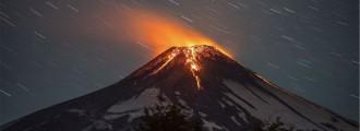 Espectaculares imágenes de la erupción del volcán Villarrica en Chile