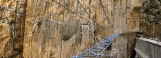 Así es el peligroso e impresionante Caminito del Rey, un acantilado español