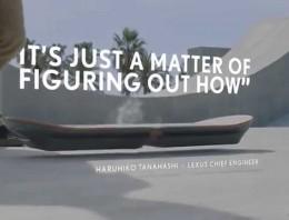 Lexus dice haber inventado, de nuevo, el monopatín levitable