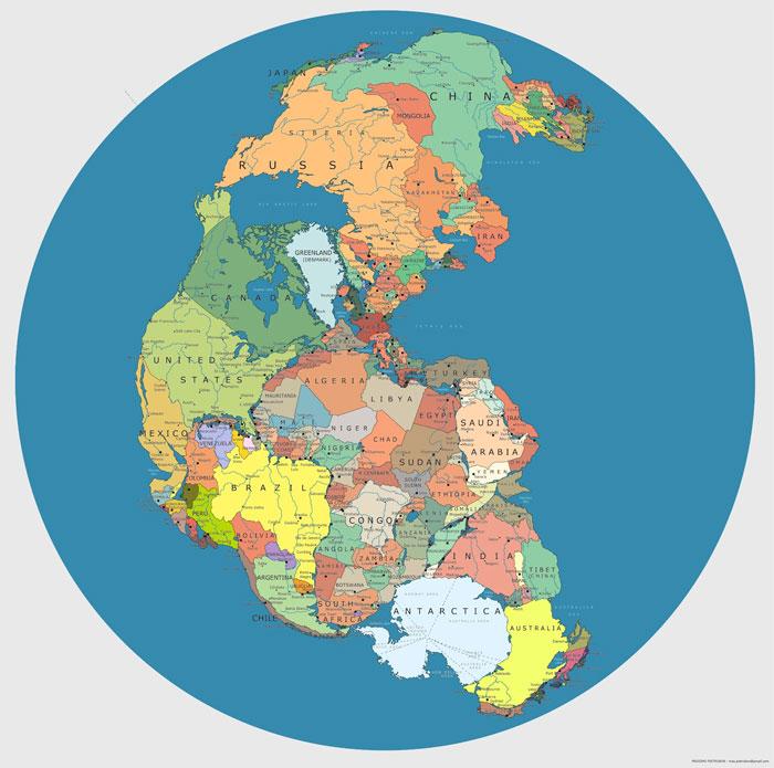 Mapa Pangea Política