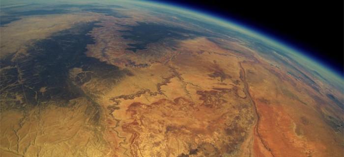 Increíble foto del Cañón del Colorado tomada desde 30 KM de altura con una GoPro