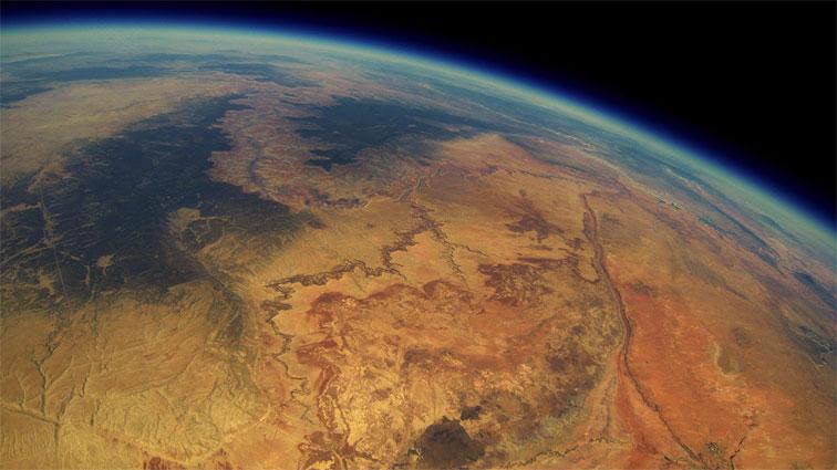 El Gran Cañón desde la estratosfera