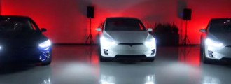 Espectacular vídeo navideño del Model X de Tesla