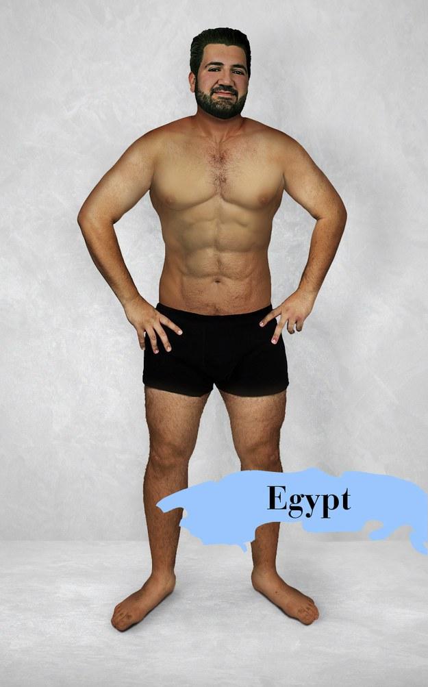 Hombre ideal en Egipto