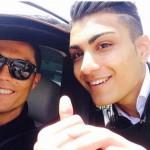 Shanta Ronaldo con Cristiano Ronaldo