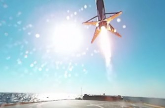 Vídeo en 360º del aterrizaje del Falcon 9 sobre el mar