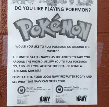 La Marina de EEUU utiliza Pokémon para reclutar cadetes