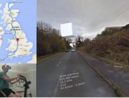 Conoce al hombre que recorre todo el Reino Unido en una bicicleta de realidad virtual