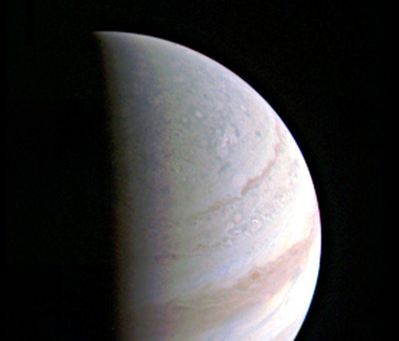 Foto de Júpiter hecha por Juno