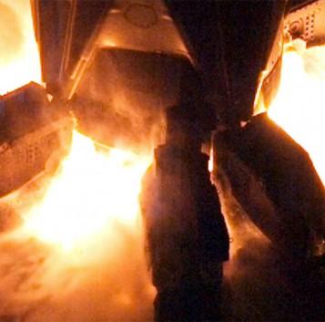 Los motores de los cohetes de SpaceX en espectacular cámara lenta