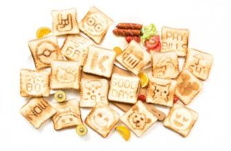 Imprime las tostadas de tu desayuno con Toasteroid