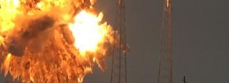 Así explota un cohete Falcon 9 de SpaceX antes de su lanzamiento