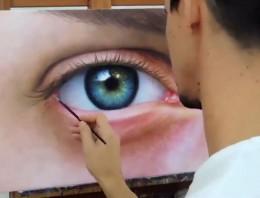 Así se pinta un ojo fotorealista sin ningún tipo de guía ni ayuda