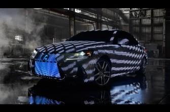 Este Lexus con 42000 LEDs parece una nave espacial