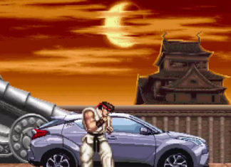Anuncio de TV del Toyota C-HR con Street Fighter II