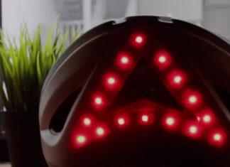 Casco para bicicleta con luces