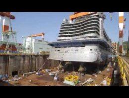 Impresionante Timelapse muestra el nacimiento de un enorme transatlántico de pasajeros