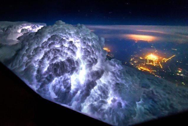 Tormenta vista desde un Avión