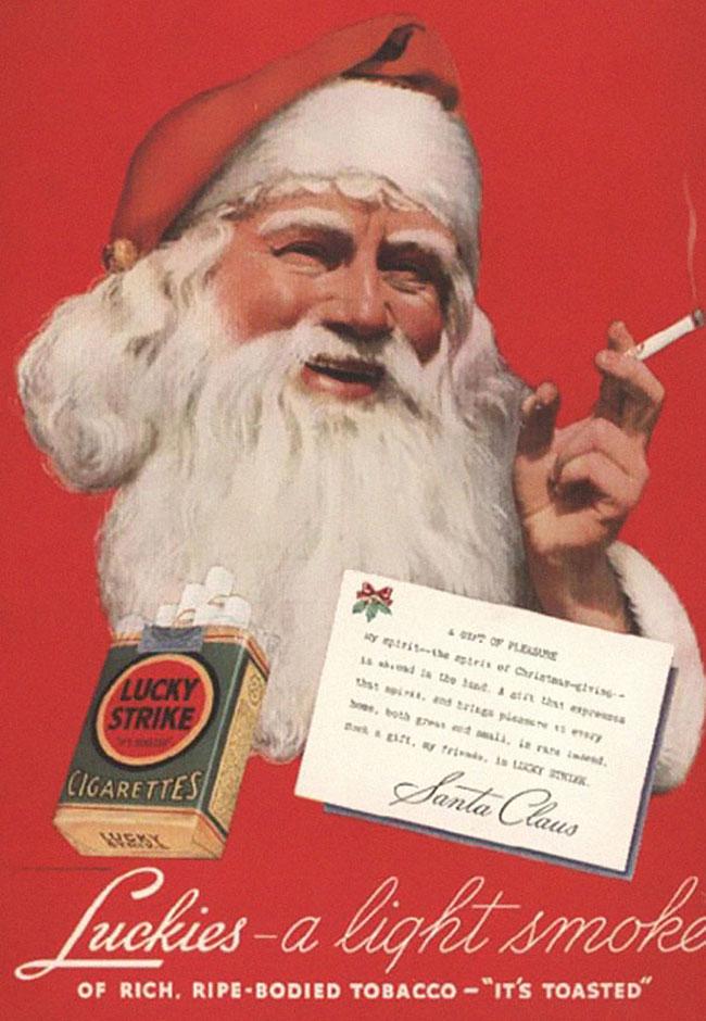 Santa Claus fumando