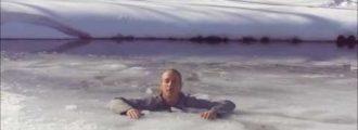 Cómo salir de un lago helado y sobrevivir para poder contarlo