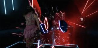 Juego de sables láser y realidad virtual