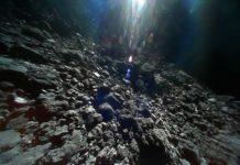 Imagen real del asteroide Ryugu, tomada por las sondas Minerva de la Hayabusa 2