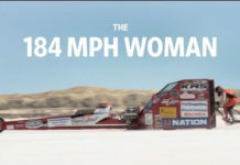 Récord de 296 Km/hr de una mujer en bicicleta